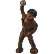 Barclay Toy Soldier Throwing a Grenade