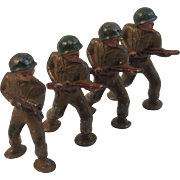 Set of 4 Barclay Toy Soldiers