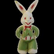 Vintage Hard Plastic Easter Bunny Lollipop Holder Candy Container