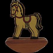 Vintage Rock A Toy Wood Rocking Horse