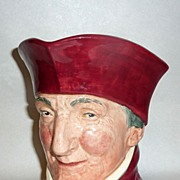 "Vintage 6"" Royal Doulton Figural Toby Mug THE CARDINAL- A mark"