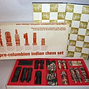 1963 Pre-Columbian Indian Chess Set - Museum of the American Indian New York