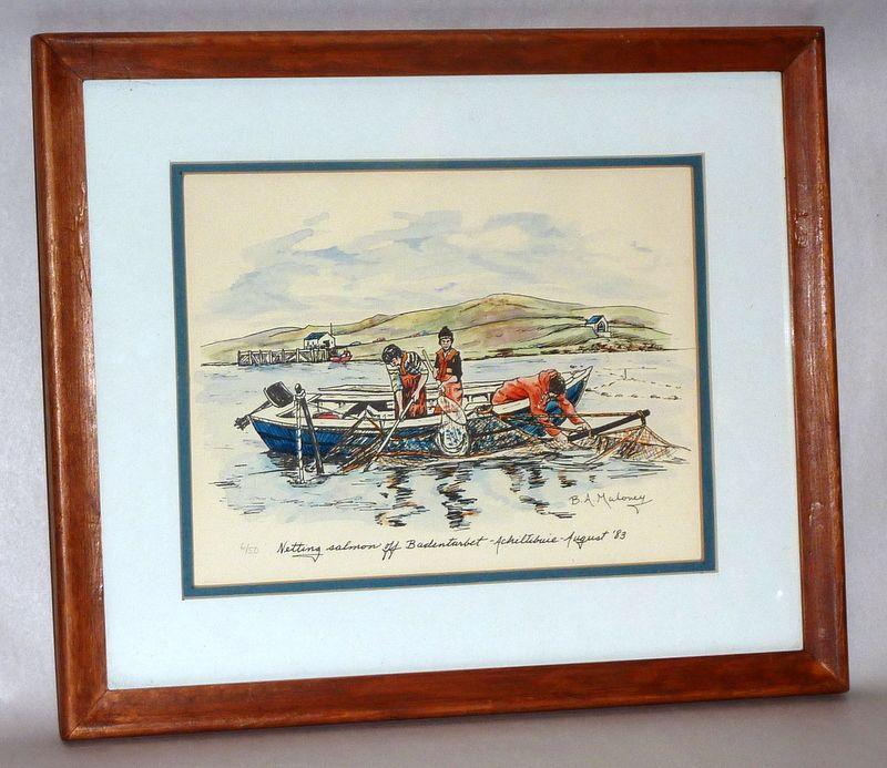 Netting Salmon - B. Maloney - The Wee Mad Road - Achiltibuie - Print 6/50