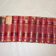 Antique 1887 W. Makepeace Thackeray 10 Book Set Imperial Edition -Hooper Clarke