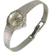 Beautiful Vintage 18K White Gold Bucherer Ladies Watch with Diamonds