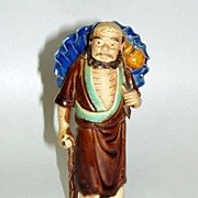 SALE PENDING Three Vintage Shekwan CHINA Mud Men Figurines