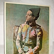 "1950's Belle Arte Publications Seated Harlequin by Picasso - 25"" Lithograph"
