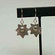 SOLD Starburst  Flower Hill Tribe Sterling Silver Dangle Earrings