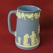 Wedgwood Blue Jasperware Creamer Pitcher