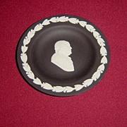 SOLD Wedgwood Black Jasperware Ben Franklin Pin Dish