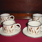 SALE Midwinter Stonehenge Wild Oats Coffee Cups and Saucers