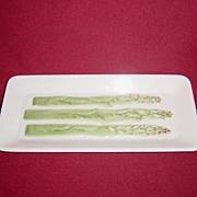 Fitz and Floyd Ceramic Asparagus Tray