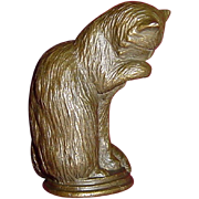 Animalier Curio Cabinet Cat by Franklin Mint