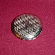Richard Hudnut Engine Turned Silvertone Powder Compact