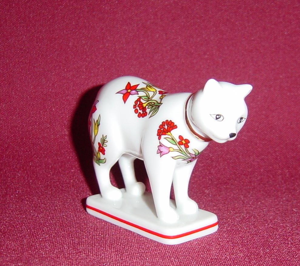 Franklin Mint Curio Cabinet Kakiemon Cat