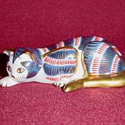 Franklin Mint Curio Cabinet Imari Cat