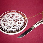 Georges Briard Cheese Trivet and Knife