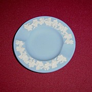Wedgwood Blue Jasperware Ashtray with Grape Vines