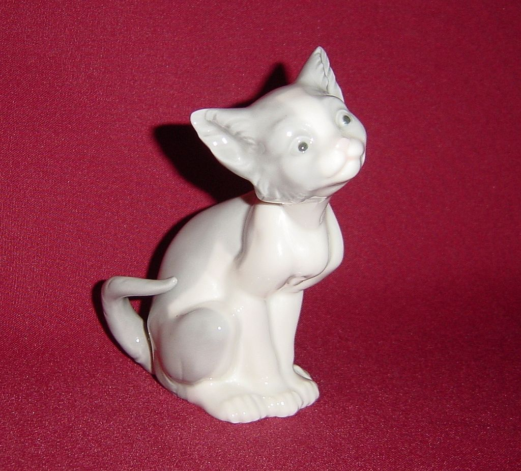 Lladro Feed Me Cat Figurine