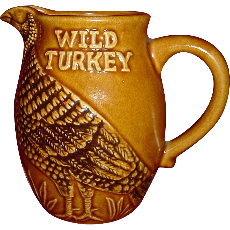 Austin Nichols Wild Turkey Advertising Water Pitcher