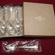 1881 Rogers Silverplate Flirtation Demitasse Spoon Set