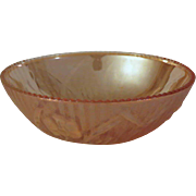 Jeannette Glass Iris and Herringbone Iridescent Beaded Berry Bowl