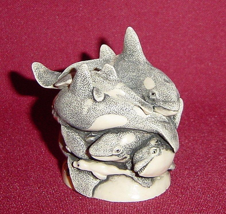 Harmony Kingdom Treasure Jest Whale of a Time Figurine Box