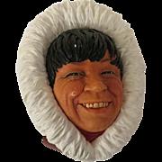 Bossons Eskimo Wall Mask Head Plaque