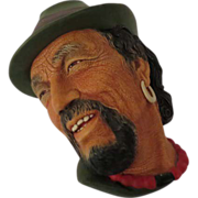 Bossons Tibetan Wall Mask Head Plaque - Later Model
