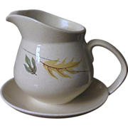 Franciscan Autumn leaves Creamer with Attached Underplate