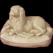 Belleek King Charles Spaniel Parian China Figurine