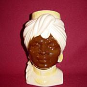 SALE Royal Copley Blackamoor Head Vase