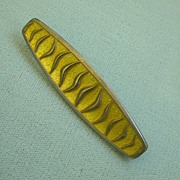 Superior David Andersen Norway Pin Mid-Century Design Yellow Enamel on  Sterling
