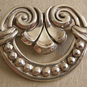 REDUCED Vintage Margot De Taxco Sterling Silver Pin Mexico PRICE REDUCED