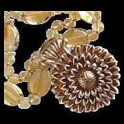 SOLD Custom Order - Fine Silver Sunflower Pendant only