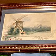 Watercolor Signed Limoges Artist Paul Putzki