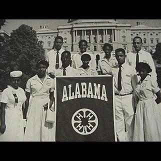 SALE Black Americana Photo 4-H Group Representing Alabama 1952