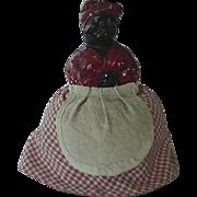 SOLD Black Americana Mammy Chalkware Pin Cushion Doll