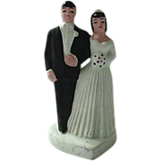 SOLD Vintage Bisque Wedding Cake Topper 50's - Red Tag Sale Item