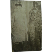 Black Americana Real RPPC Postcard Man In Black Face With Sis Hopkins
