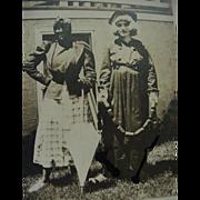 Black Americana Postcard Black Face Woman With Umbrella