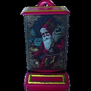 SALE Vintage Match Holder With Old World Santa On Front