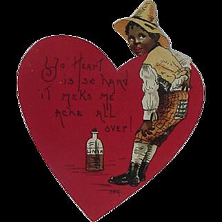 SALE Black Americana Valentine Card By H B Griggs