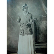 Black Americana Photo Photograph Women Posing With Arm On Back Of Chair