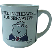 SOLD Sandra Boynton Dyed In The Wool Conservative Republican Political Mug Cup