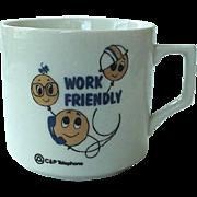 Bell Atlantic Work Friendly Mug 1970s