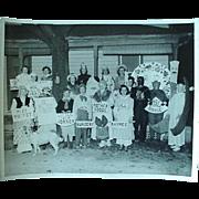 Vintage Photo Of People In Halloween Costumes And Dressed As Nursery Rhymes 1950s