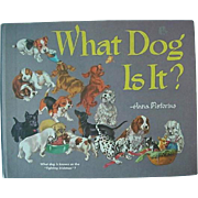 SOLD What Dog Is It Book By Anna Pistorius First Printing 1968 Book About Dogs