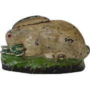 SOLD Rabbit Eating Cabbage Mechanical Bank By Kilgore 1920s - Red Tag Sale Item