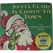 Golden Record Santa Claus Is Comin To Town 1955